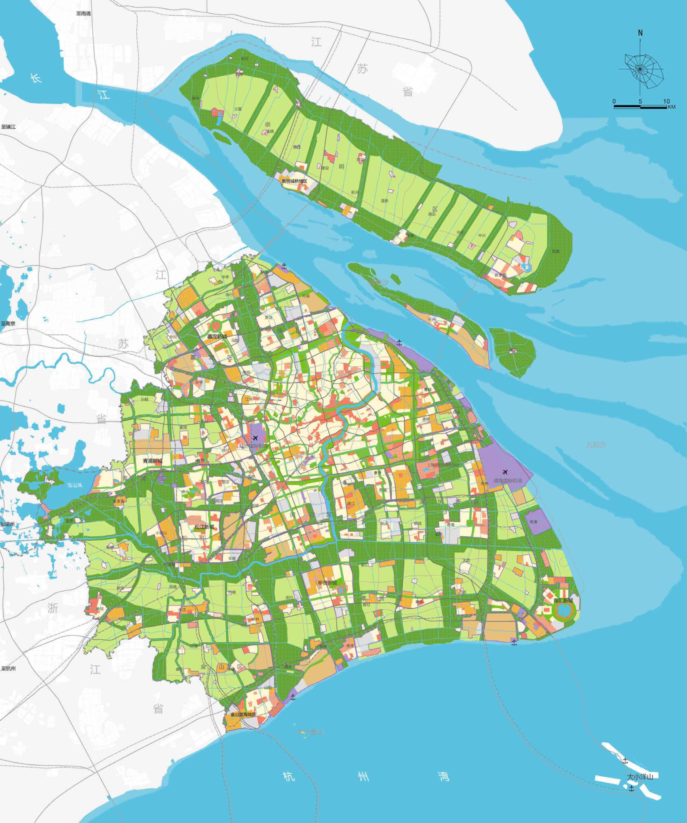 上海市城市总体规划(2017-2035)文本+图集